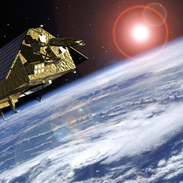 The Sentinal-6 satellite is seen in a photo provided by NASA.