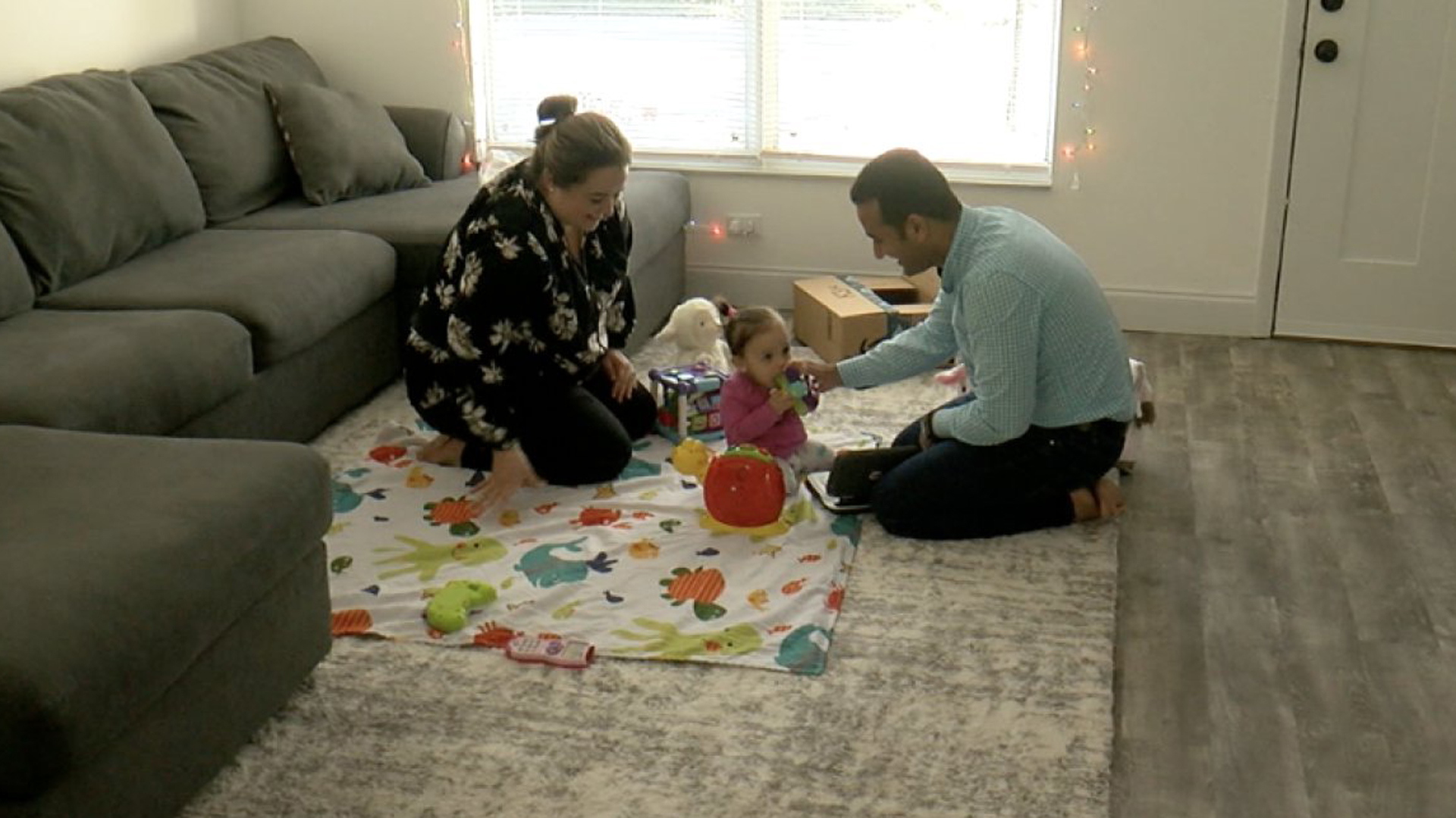 The Saleep family is seen in their Tampa, Florida, home on Dec. 4, 2019. (Credit: WFTS)