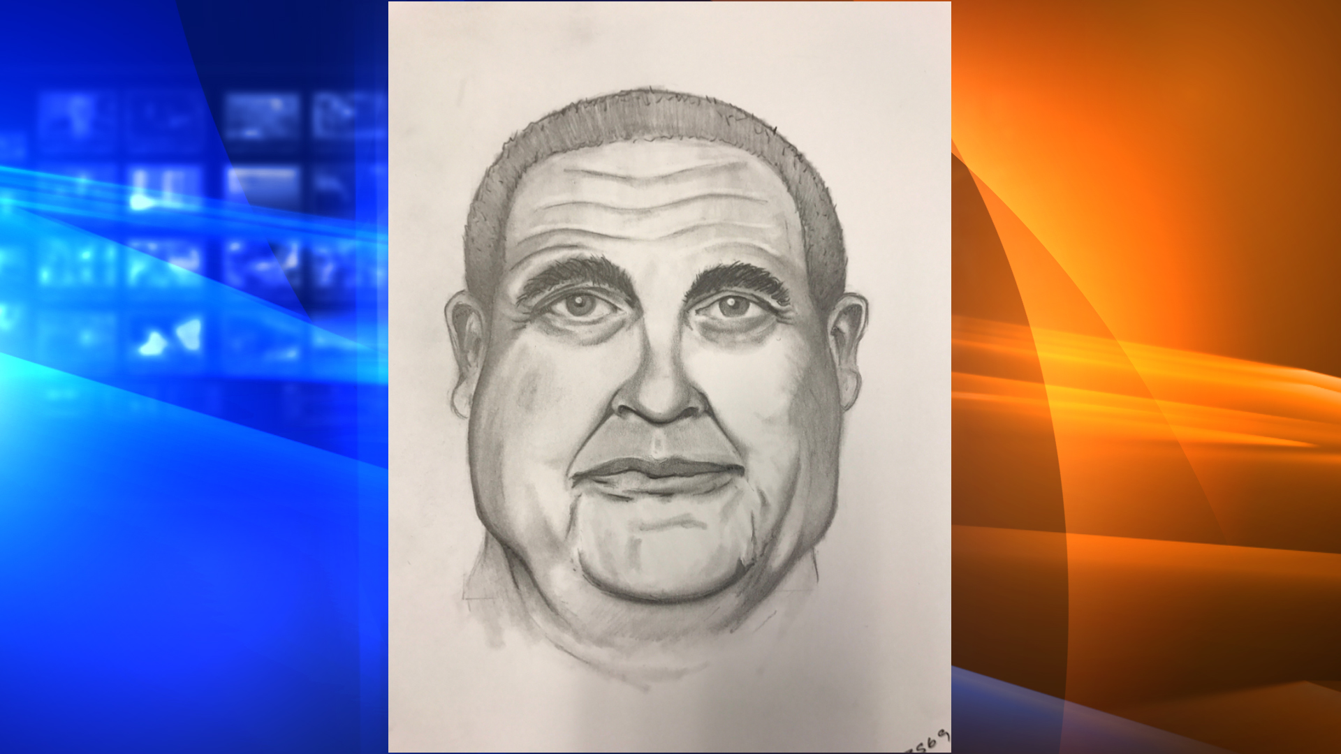 Sketch of attempted kidnapper released on Dec. 3, 2019. (Credit: Orange County Sheriff's Department)