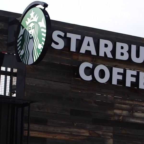 A Starbucks location is seen in a file photo. (Credit: KTLA)