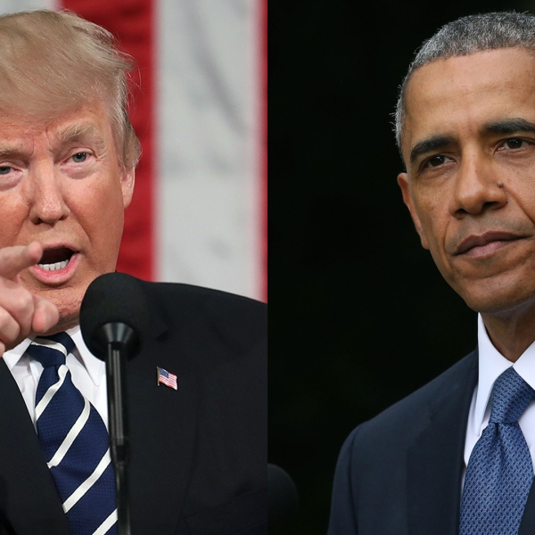 President Donald Trump and former President Barack Obama tied for the most admired man of the year in a new Gallup poll. (Credit: SCALZO/Wilson/Getty Images)