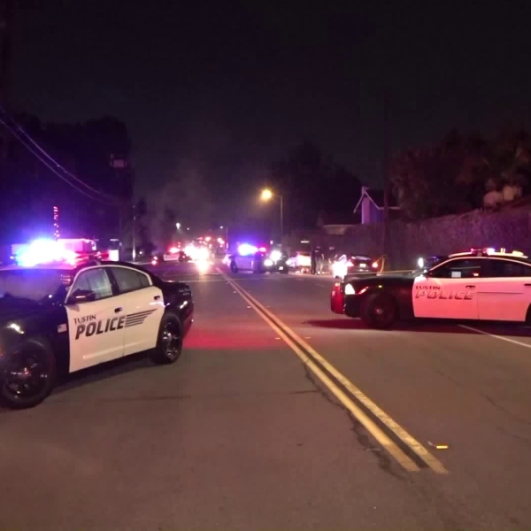 Tustin police respond to a deadly stabbing on Prospect Avenue at Norwood Park Place on Dec. 9, 2019. (Credit: Onscene.tv)