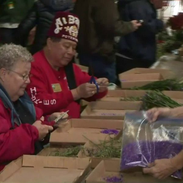 It's crunch time for the volunteers helping prepare the floats that will appear in the Rose Parade. Lauren Lyster reports from Irwindale for the KTLA 5 Morning News on Dec. 28, 2019.