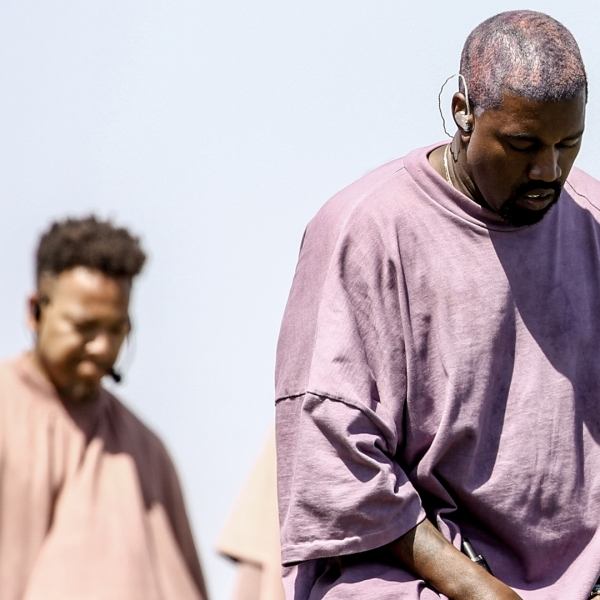 Kanye West performs Sunday Service during the 2019 Coachella Valley Music And Arts Festival on April 21, 2019 in Indio, Calif. (Credit: Rich Fury/Getty Images for Coachella)