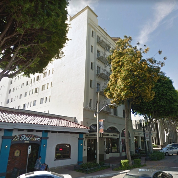 The Hoover Hotel, 7035 Greenleaf Ave. in Whittier, as viewed in a Google Street View image.