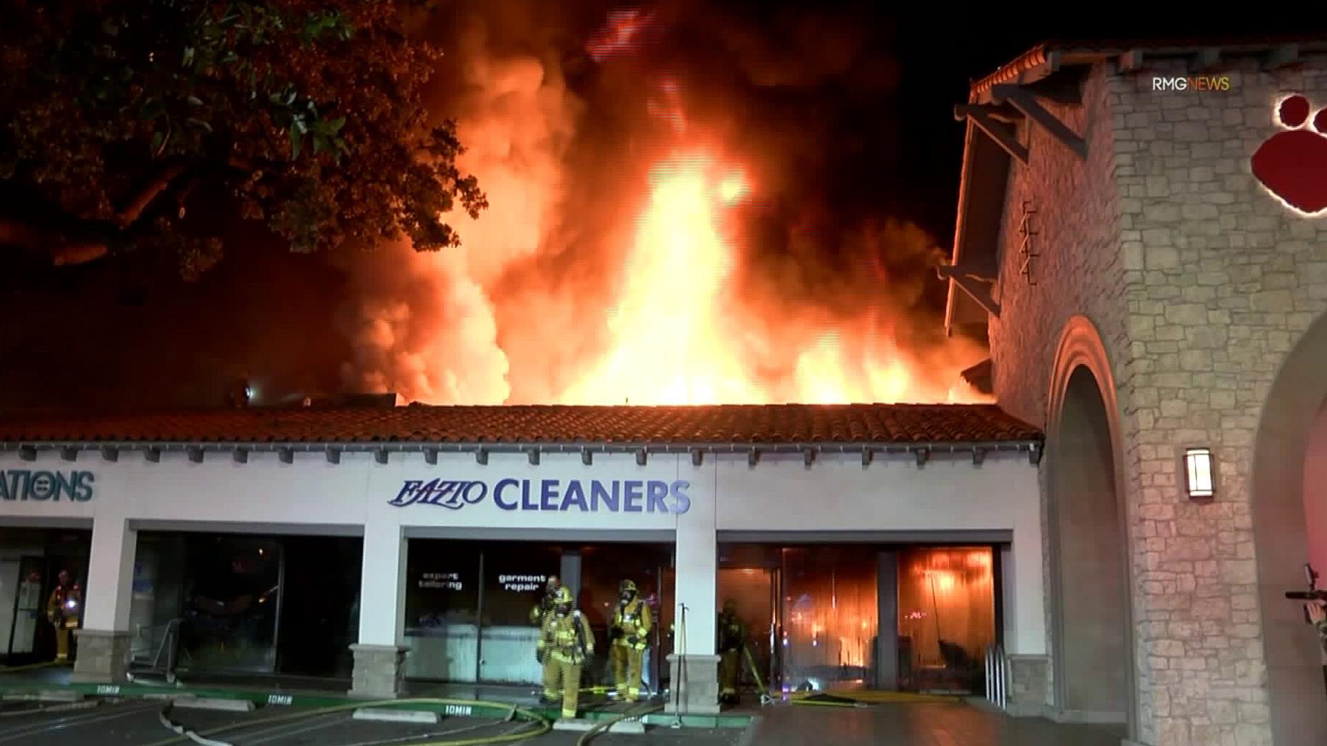 Early Morning Blaze Damages Multiple Businesses At Woodland Hills