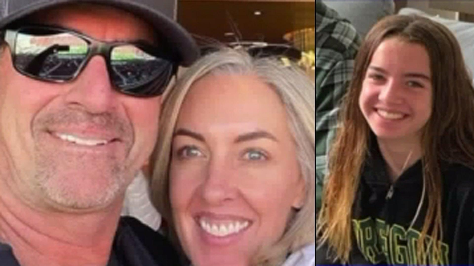 John, Kerri and Alyssa Altobelli (left to right) are seen in images posted to Keri Altobelli's Facebook page.
