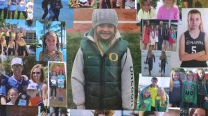 A collage pays tribute to Alyssa Altobelli at a Jan. 30, 2020, vigil in Newport Beach for the 14-year-old who died alongside her parents in Kobe Bryant's helicopter crash. (Credit: KTLA)