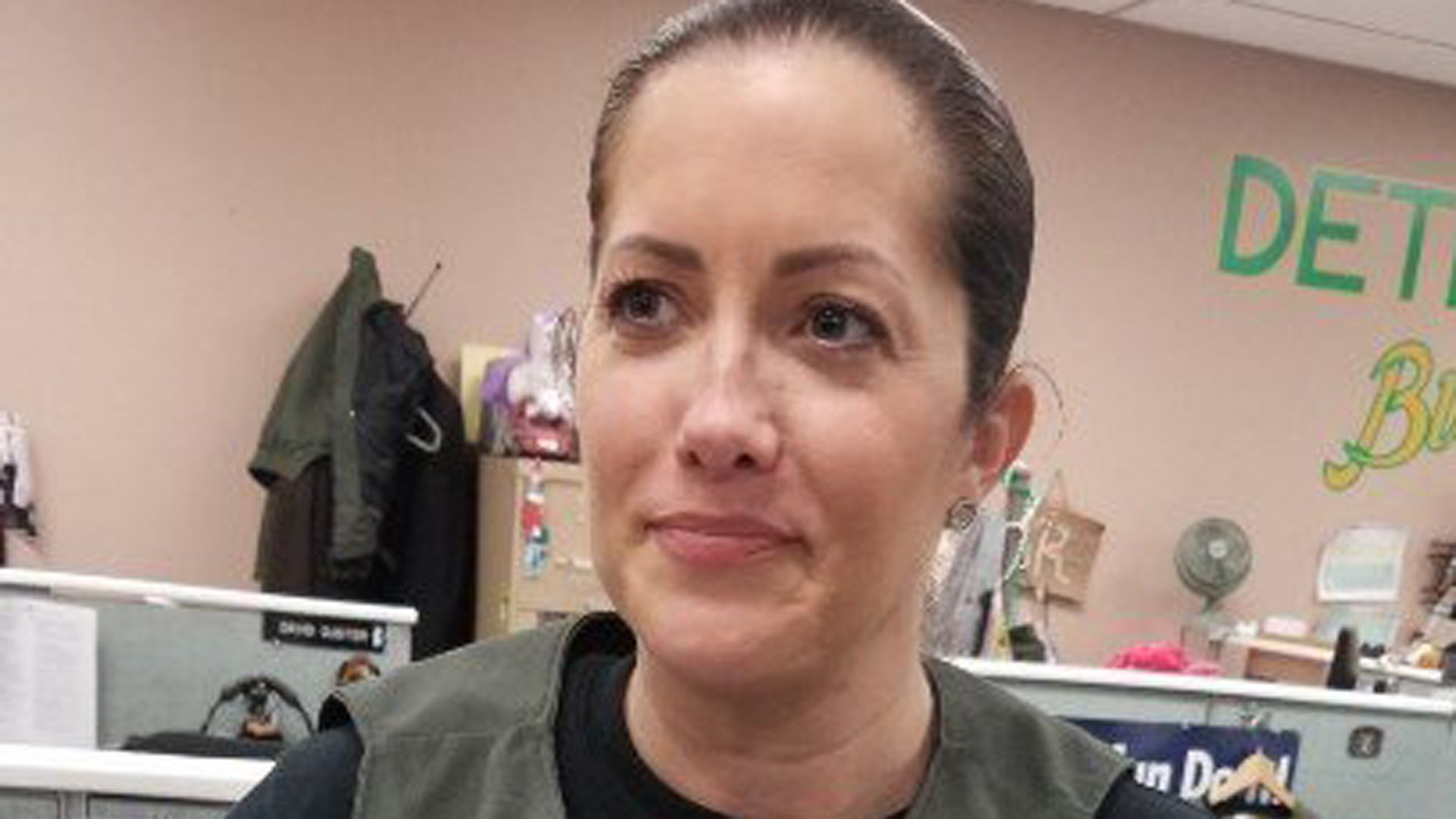 Detective Amber Leist is seen in a photo released by the Los Angeles County Sheriff's Department on Jan. 13, 2020.