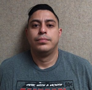 Alonso Calle is seen in a booking photo released by the Fontana Police Department on Jan.12, 2020.