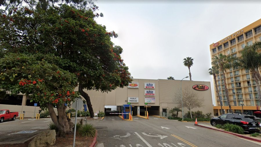 A parking structure located in the 500 block of East Harbor Boulevard appears in this image from Google Maps.