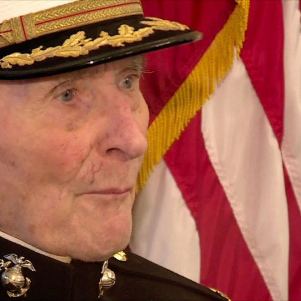 Maj. Bill White, a World War II veteran, is asking for Valentine's Day cards. (Credit: KTXL)