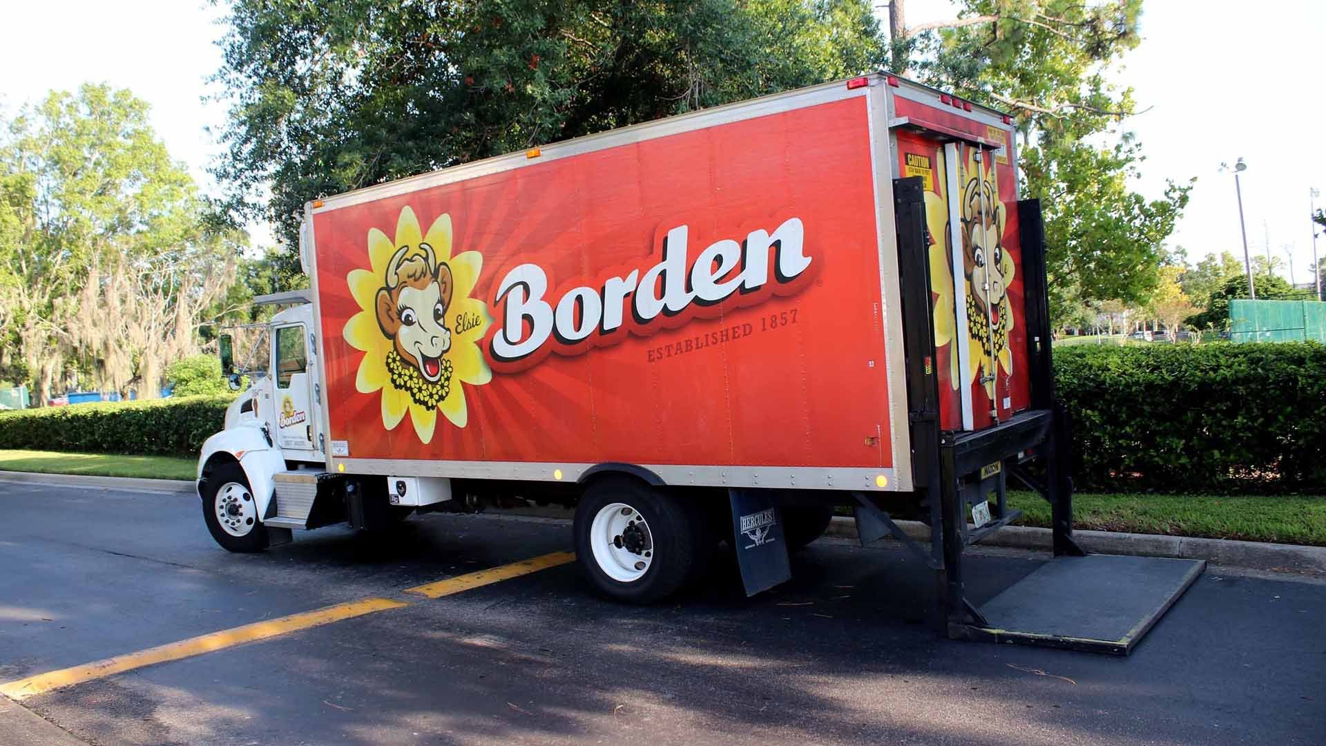 A Borden Dairy Co. truck is seen in a file photo. (Credit: Shutterstock)