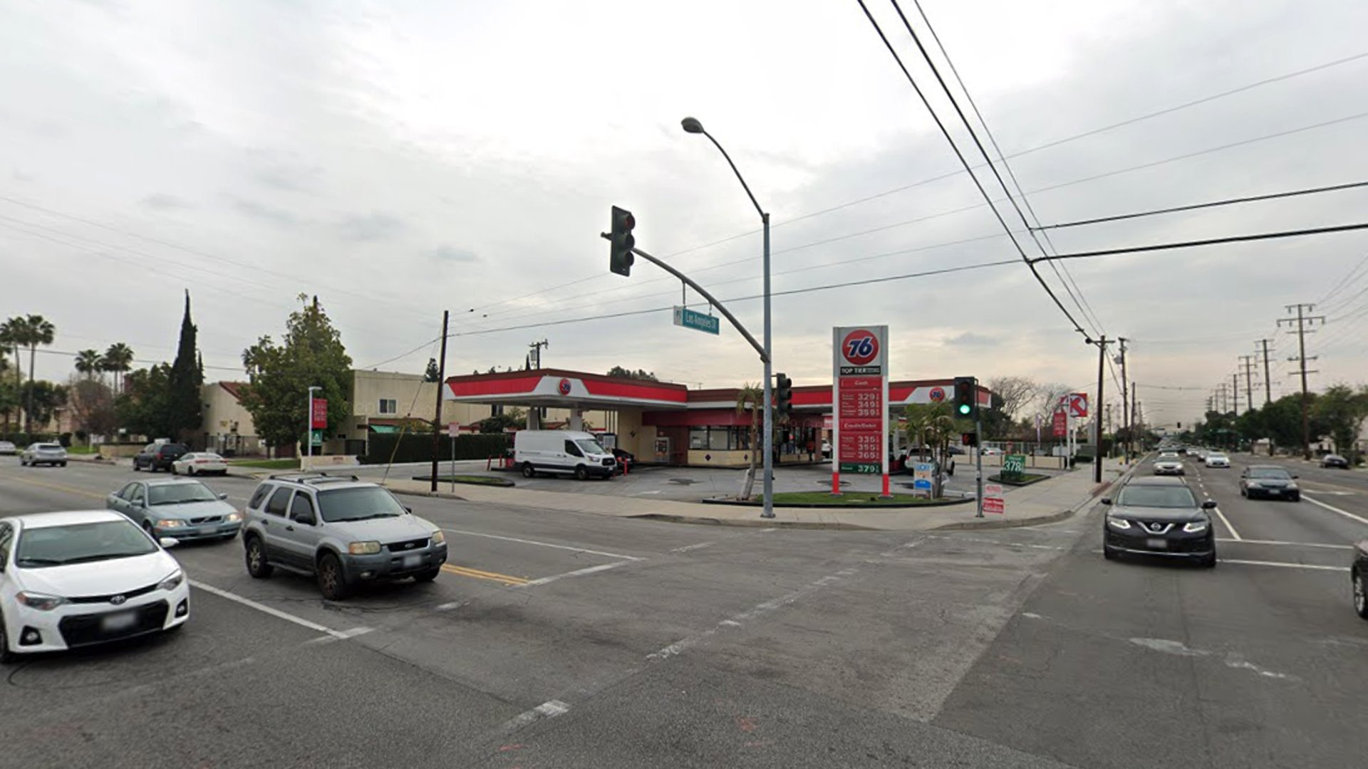 A 76 Station in the 13700 block of Los Angeles Street in Baldwin Park, as viewed in a Google Street View image.