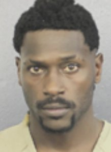 Former NFL player Antonio Brown has surrendered to the Broward County Jail just one day after a warrant was issued for his arrest, according to CNN affiliate WFOR. (Credit: Broward County Sheriff's Office via CNN Wire)