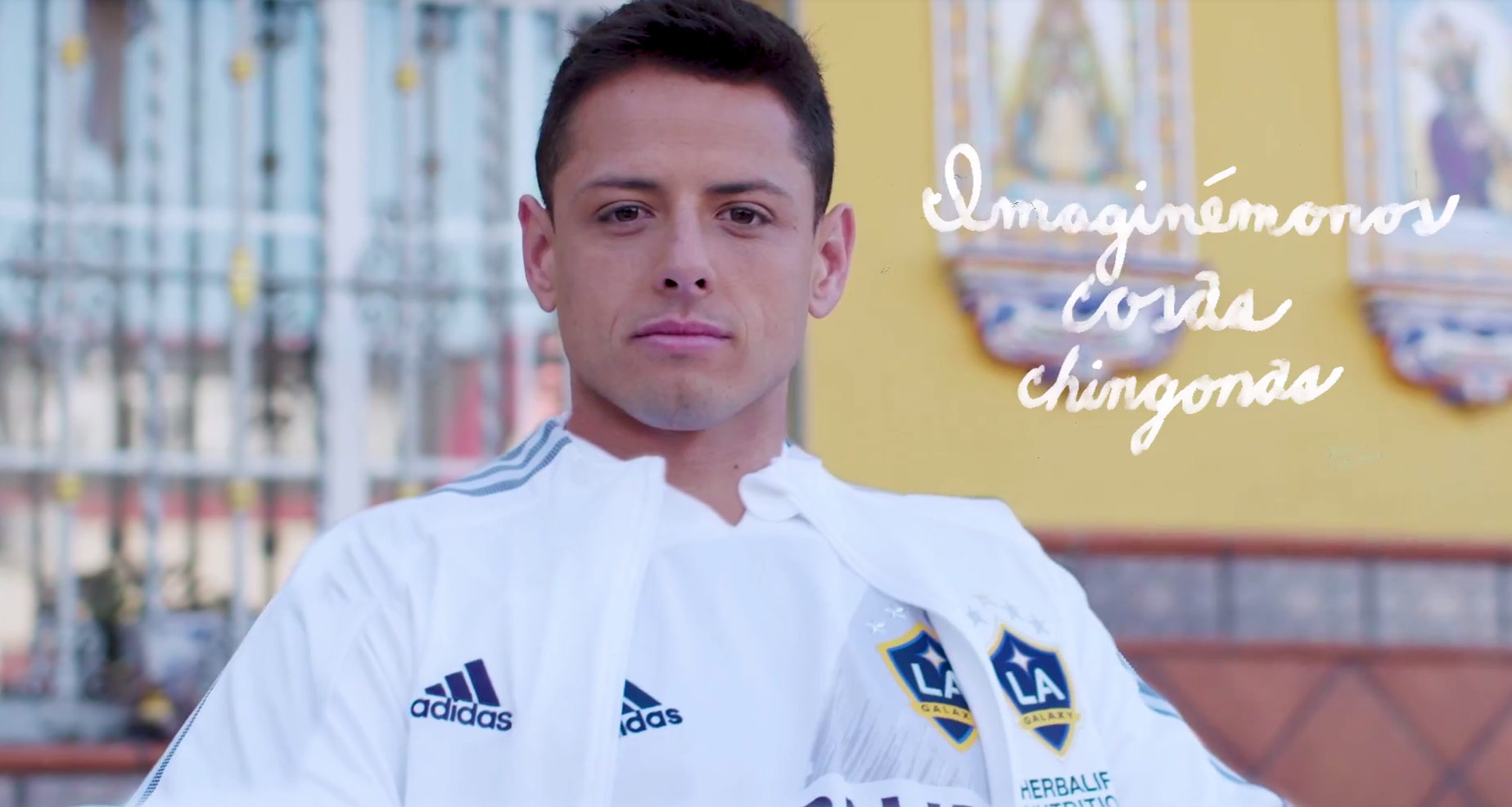"Javier ""Chicharito"" Hernández appears in a still from a video released by the L.A. Galaxy on Jan. 21, 2020."