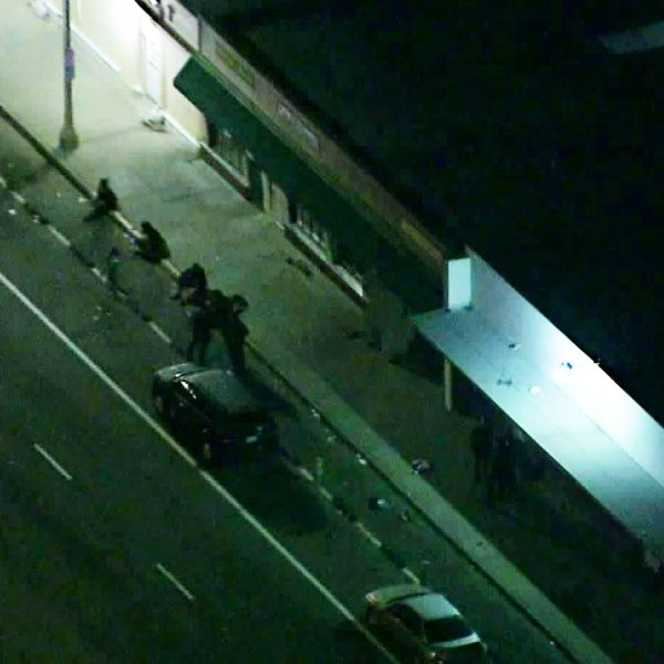 Two people shot in Long Beach on Jan. 13, 2020. (Credit: Sky5)