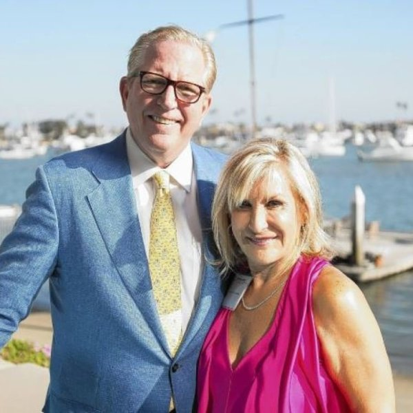 Karen Littlefair is seen in a photo with her husband Andrew in 2014.(Credit: Daily Pilot)