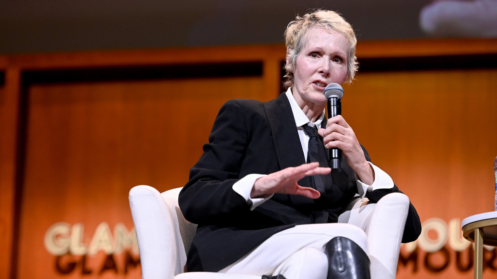 E. Jean Carroll speaks onstage during the How to Write Your Own Life panel at the 2019 Glamour Women Of The Year Summit at Alice Tully Hall on November 10, 2019 in New York City. (Credit: Ilya S. Savenok/Getty Images for Glamour)