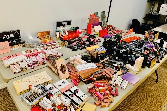 Counterfeit makeup seized from downtown Los Angeles in January 2020. (Credit: LAPD Captain Lillian Carranza)