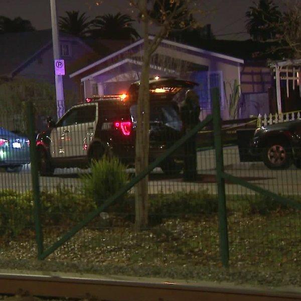 Man shot to death near Exposition Park on Jan. 14, 2020. (Credit: KTLA)