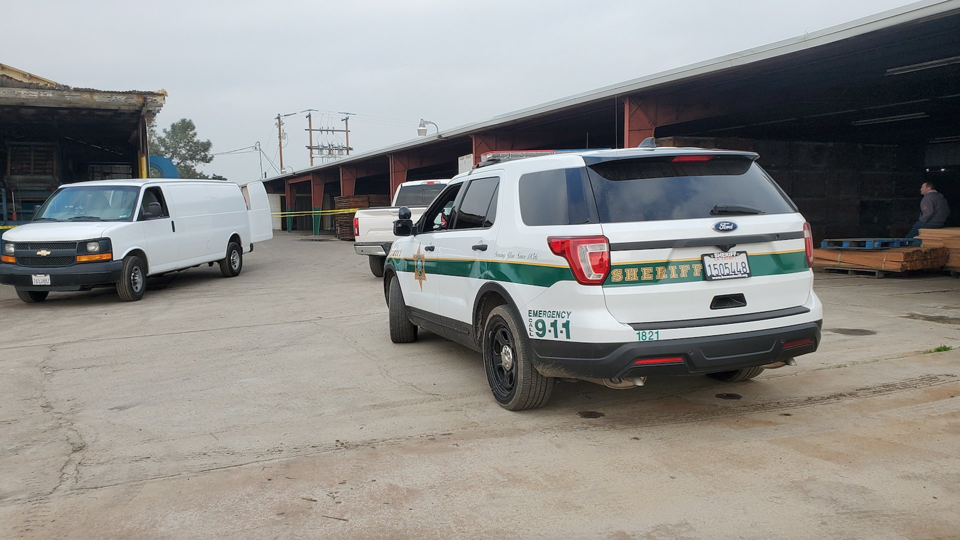 The Fresno County Sheriff's Office responded to the Del Rey Packing Company's dehydrator plant to investigate a worker's death on Jan. 24, 2020. (Credit: KSEE/KPGE)