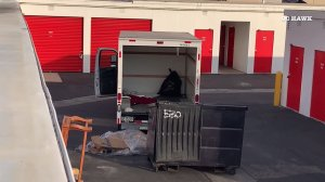 A U-Haul was left open on the lot where the body was discovered during the investigation on Jan. 8, 2020. (Credit: OC Hawk)