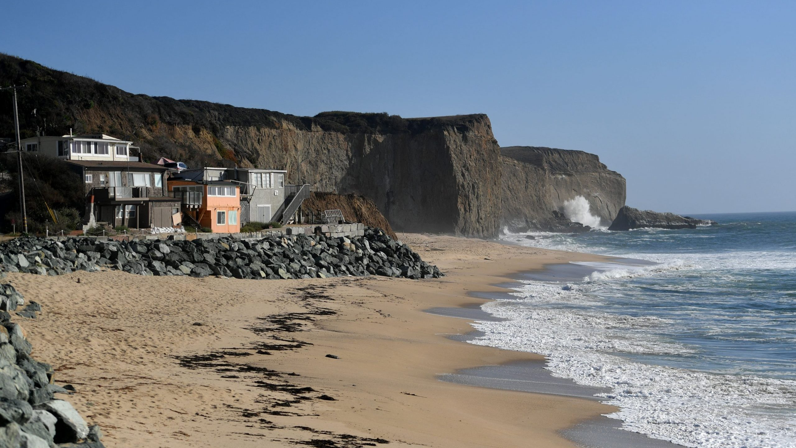Martin's Beach is seen in Half Moon Bay on Sept. 19, 2018. (Credit: JOSH EDELSON/AFP via Getty Images)