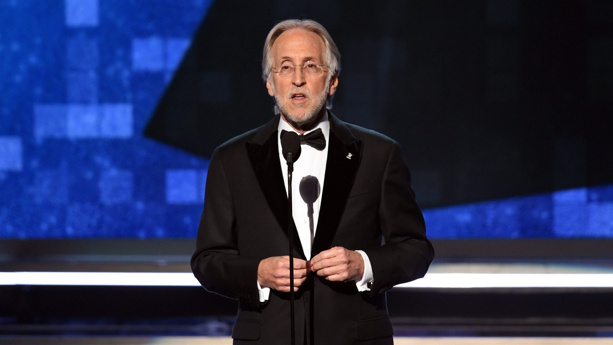 President and CEO of The Recording Academy Neil Portnow speaks onstage during the 61st Annual GRAMMY Awards at Staples Center on Feb. 10, 2019. (Credit: Kevin Winter/Getty Images for The Recording Academy)