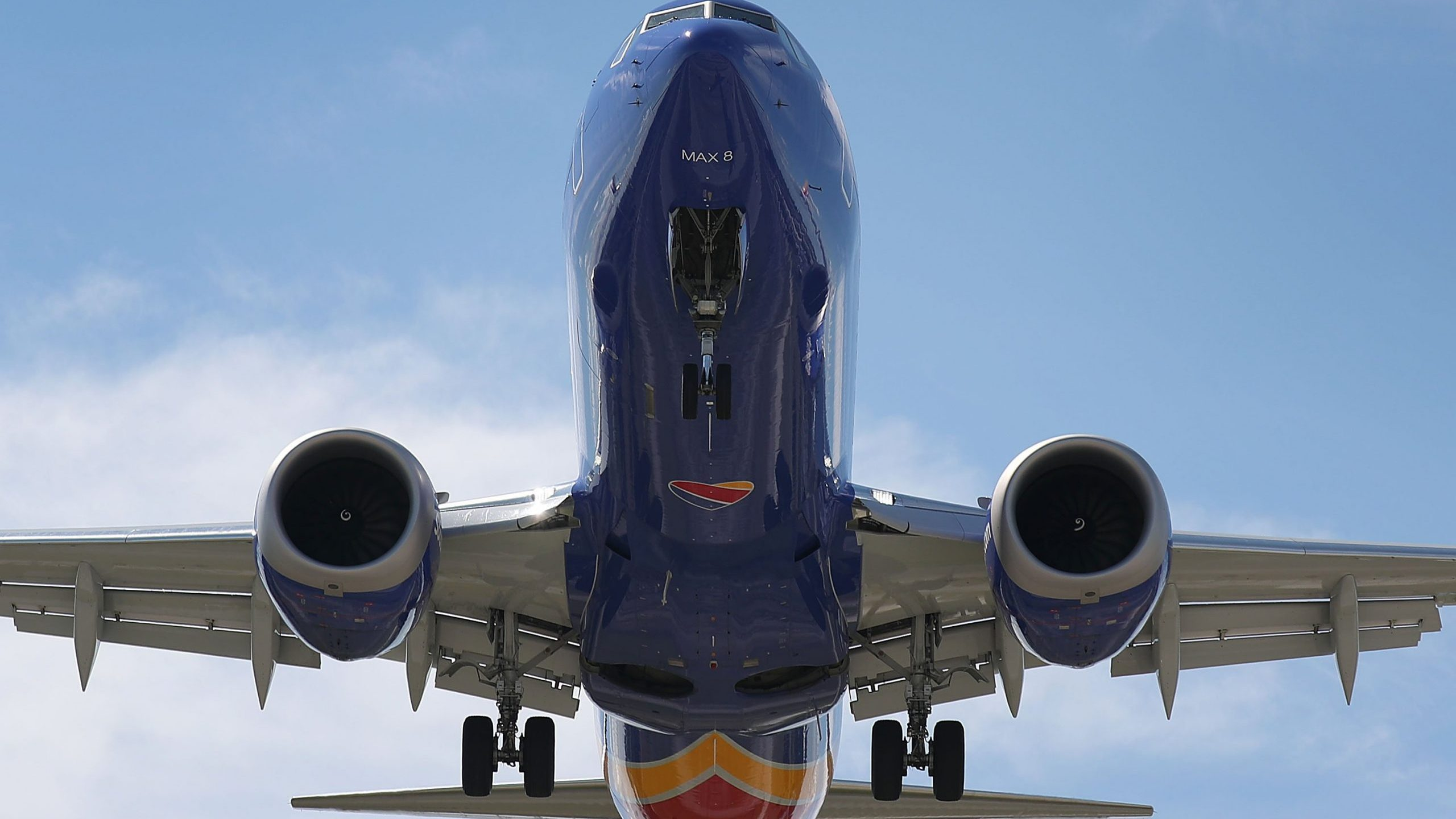 A Southwest Boeing 737 Max 8 enroute from Tampa prepares to land at Fort Lauderdale-Hollywood International Airport on March 11, 2019. (Credit: Joe Raedle/Getty Images)