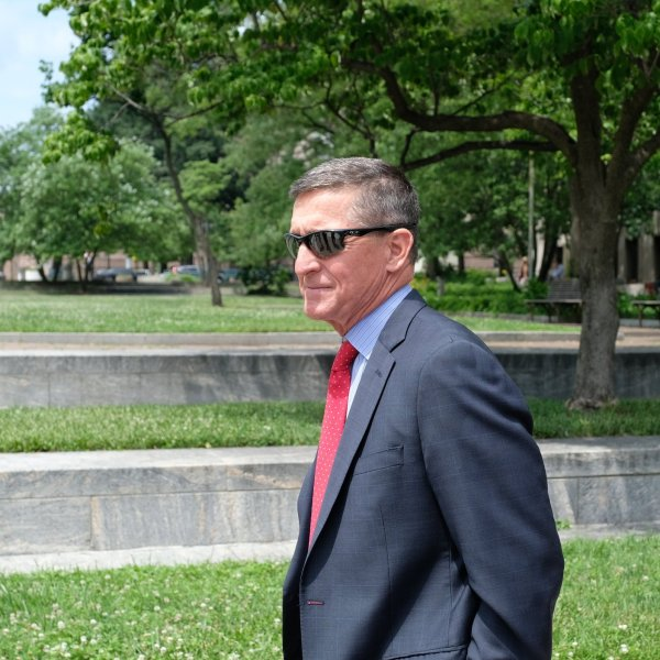 President Trump's former National Security Adviser Michael Flynn leaves the E. Barrett Prettyman U.S. Courthouse on June 24, 2019, in Washington, DC. (Credit: Alex Wroblewski/Getty Images)