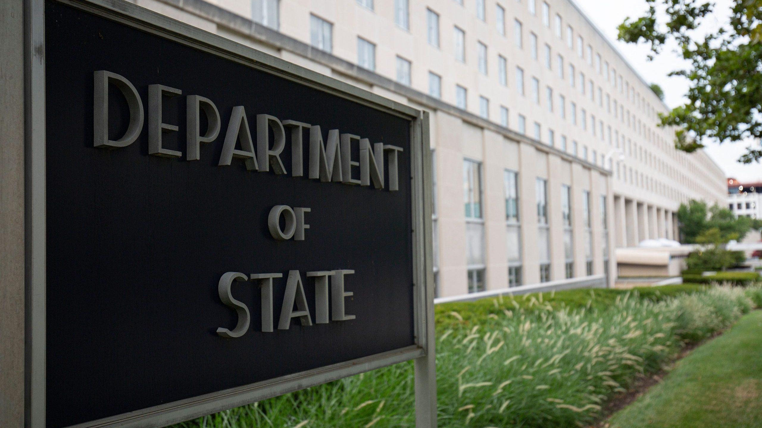 The U.S. Department of State building is seen in Washington, D.C., on July 22, 2019. (ALASTAIR PIKE/AFP via Getty Images)