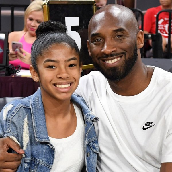 Gianna Bryant and her father, former NBA player Kobe Bryant, attend the WNBA All-Star Game 2019 at the Mandalay Bay Events Center on July 27, 2019, in Las Vegas, Nevada. (Credit: Ethan Miller/Getty Images)