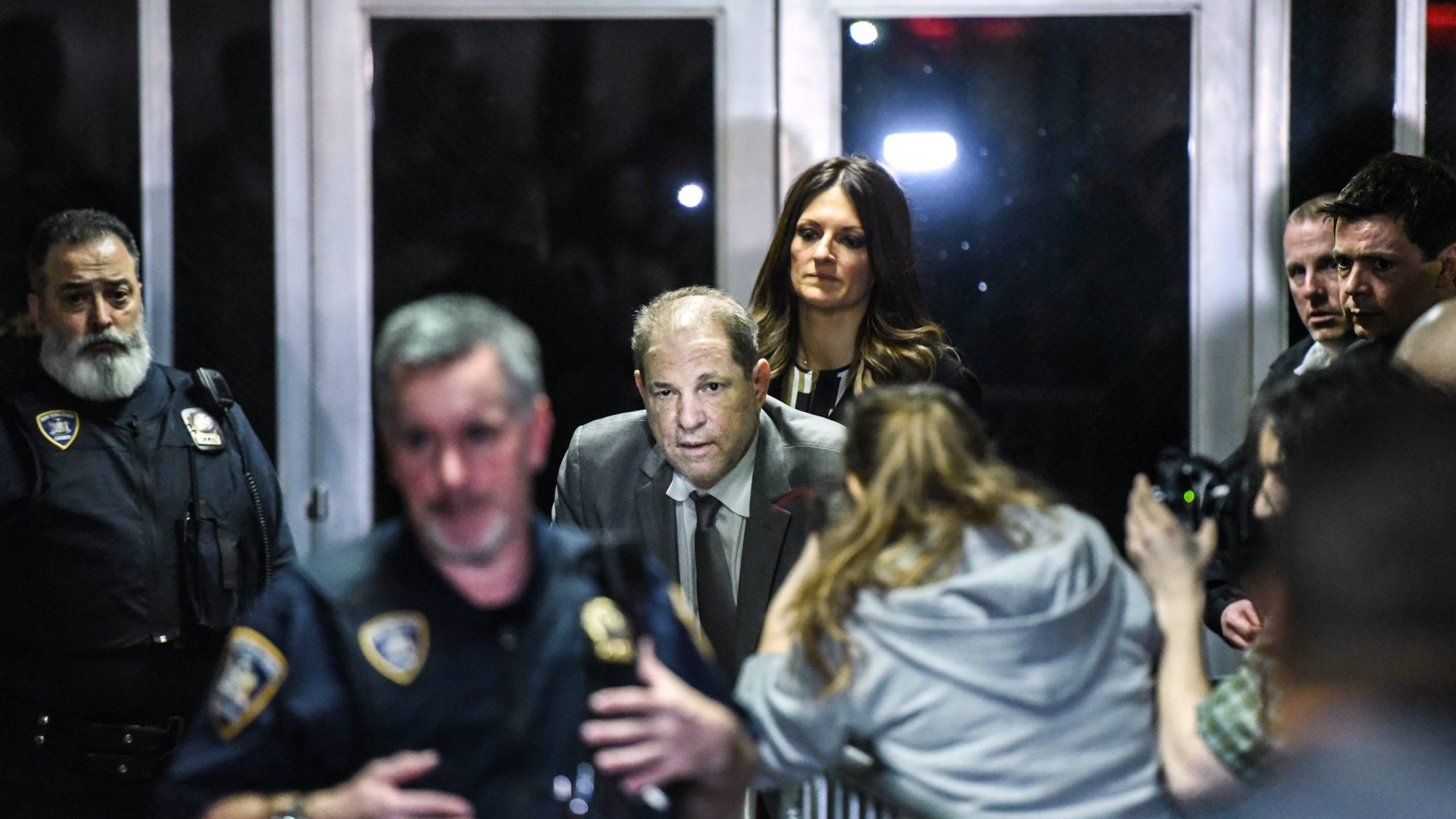Harvey Weinstein leaves the courtroom at New York City criminal court during his sex crimes trial on Jan. 7, 2020, in New York City. (Credit: Stephanie Keith/Getty Images)