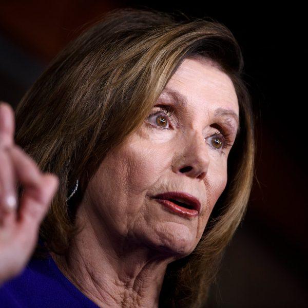 U.S. Speaker of the House Nancy Pelosi, Democrat of California, speaks during her weekly press briefing on Capitol Hill on Jan. 9, 2020. (Credit: Brendan Smialowski/AFP via Getty Images)