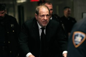 Harvey Weinstein enters New York City Criminal Court for his sex crimes trial on Jan.. 16, 2020, in New York City. (Credit: Scott Heins/Getty Images)