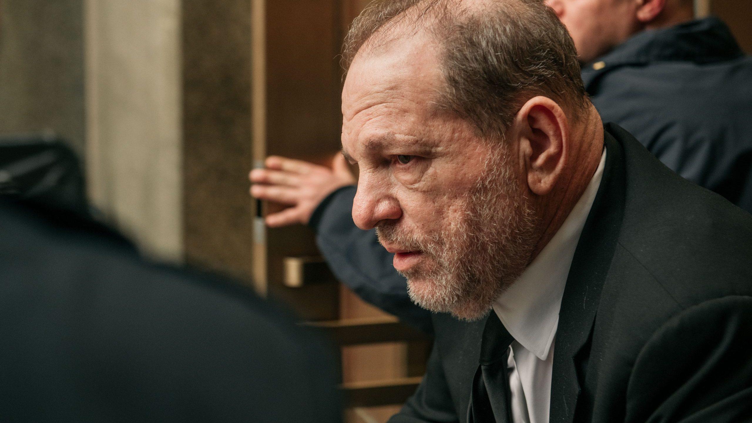 Harvey Weinstein leaves New York City Criminal Court on Jan. 16, 2020 in New York City. (Credit: Scott Heins/Getty Images)