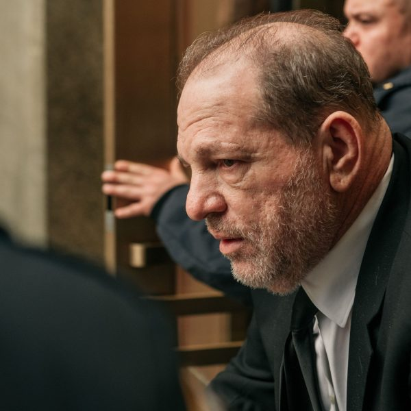 Harvey Weinstein leaves New York City Criminal Court on Jan. 16, 2020 in New York City. (Credit: Scott Heins/Getty Images)