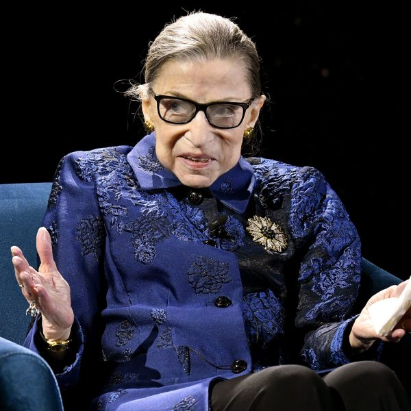 Justice Ruth Bader Ginsburg speaks onstage at the Fourth Annual Berggruen Prize Gala celebrating her In New York City on Dec. 16, 2019. (Credit: Eugene Gologursky/Getty Images for Berggruen Institute )