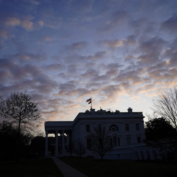 The White House is shown at sunrise on January 08, 2020 in Washington, DC. (Credit: Win McNamee/Getty Images)