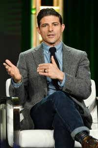 """Matt Gutman of """"Earth Day"""" speaks on a panel during the 2020 Winter TCA Press Tour in Pasadena on Jan. 17, 2020. (Credit: Amy Sussman / Getty Images)"""