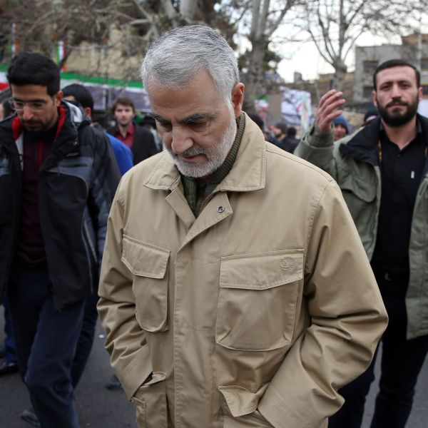 The commander of the Iranian Revolutionary Guard's Quds Force, General Qassem Soleimani, attends celebrations marking the 37th anniversary of the Islamic revolution on February 11, 2016 in Tehran. (Credit: STR/AFP/Getty Images)