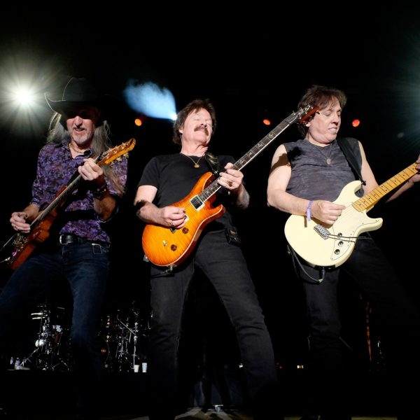 Musicians Patrick Simmons, Tom Johnston and John McFee of The Doobie Brothers perform onstage during 2016 Stagecoach California's Country Music Festival at Empire Polo Club on May 01, 2016 in Indio, California. (Credit: Frazer Harrison/Getty Images for Stagecoach)