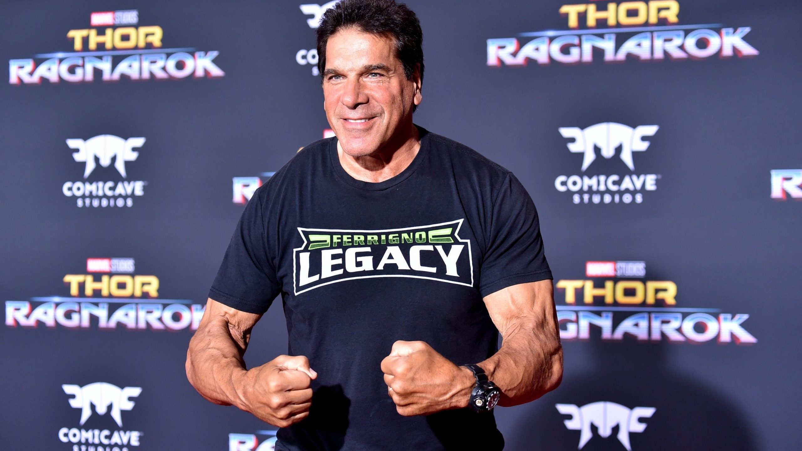 """Actor Lou Ferrigno arrives at the Los Angeles premiere """"Thor: Ragnarok"""" on Oct. 10, 2017. (Credit: Frazer Harrison / Getty Images)"""