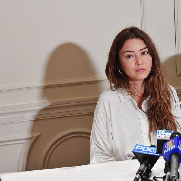 Alleged victim of Harvey Weinstein, Mimi Haleyi, speaks at a press conference held by attorney Gloria Allred at Lotte New York Palace on Oct. 24, 2017, in New York City. (Credit: Mike Coppola/Getty Images)