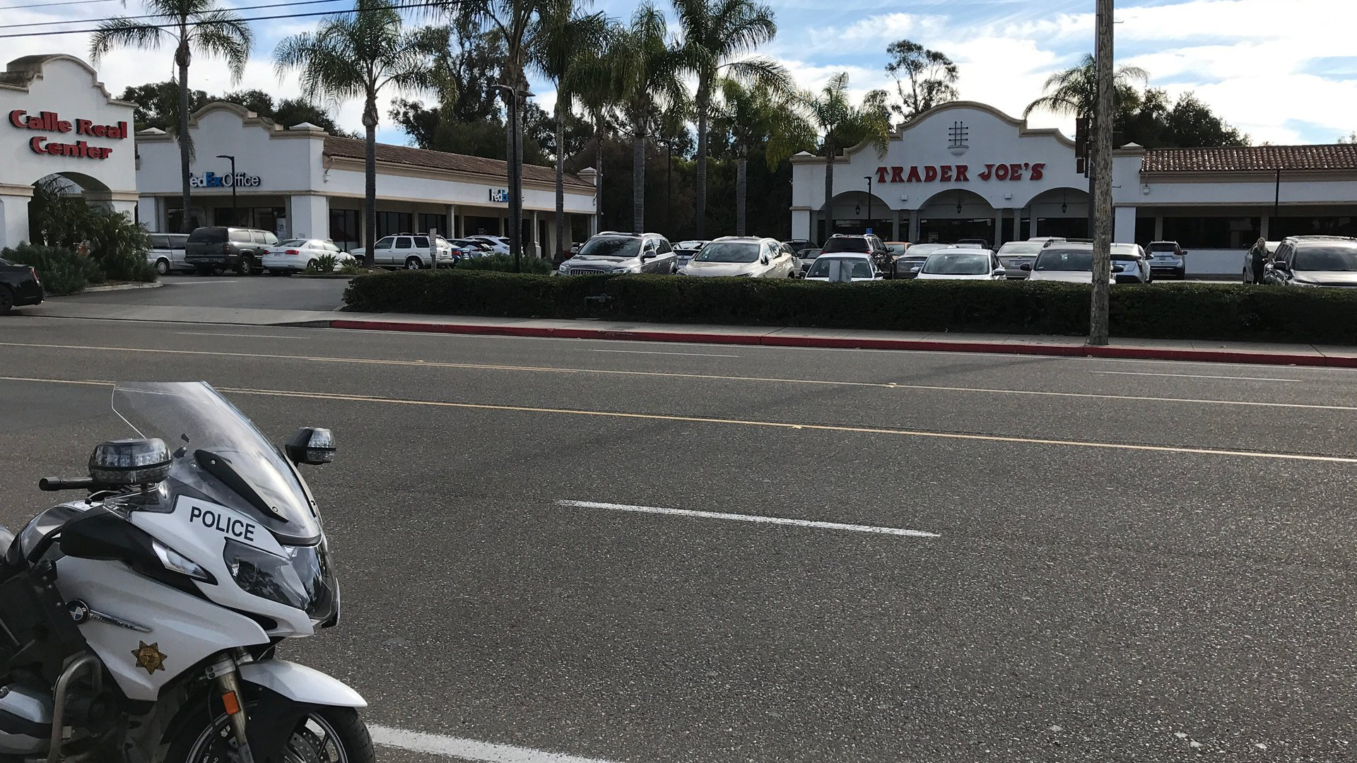 Scene of hit-and-run that injured 93-year-old bicyclist on Jan. 6, 2020. (Credit: Santa Barbara Sheriff's Office)