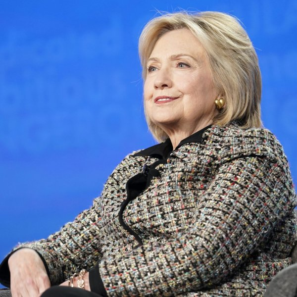 Hillary Rodham Clinton speaks onstage during the Hulu Panel at Winter TCA 2020 at The Langham Huntington on January 17, 2020, in Pasadena. (Credit: Erik Voake/Getty Images for Hulu)