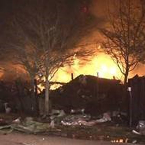 The blast at Watson Grinding and Manufacturing happened at 4525 Gessner Road, about an 18-mile drive northwest of downtown, officials said. (Credit: Metro Video Services)