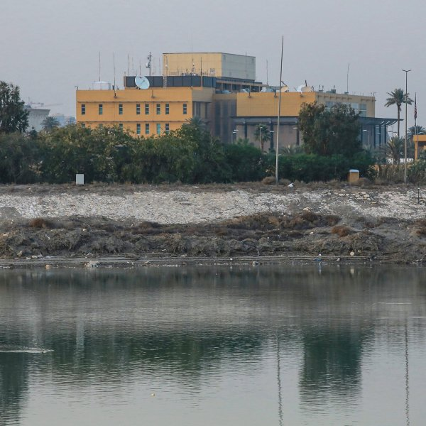 An undated photo of the USembassy compound on the banks of the Tigris River. (Credit: Ameer Al Mohmmedaw/picture alliance via Getty Images)