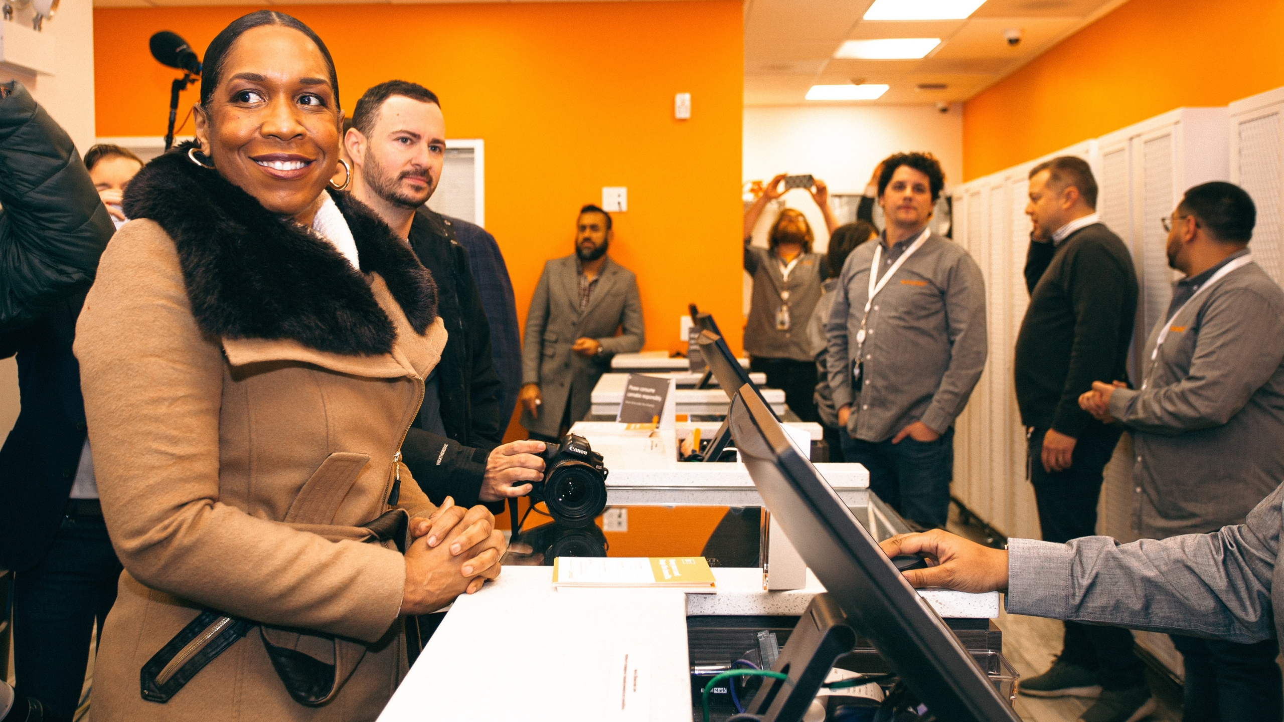 Illinois Lt. Governor Juliana Stratton was among hundreds of early morning customers at a Chicago marijuana dispensary on the first day of legal recreational sales in the state, according to a release from Cresco Labs, owner of Sunnyside Dispensary. (Credit: CNN)